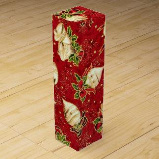 Boite Pour Bouteille De Vin Boîte-cadeau de vin de motif d'ampoule de Noël