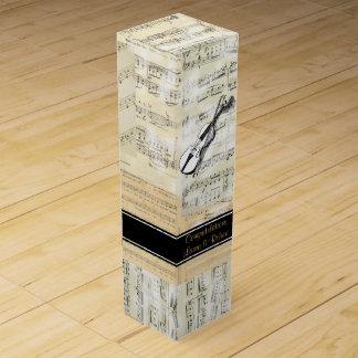 Boite Pour Bouteille De Vin Boîte-cadeau de vin personnalisée par musique