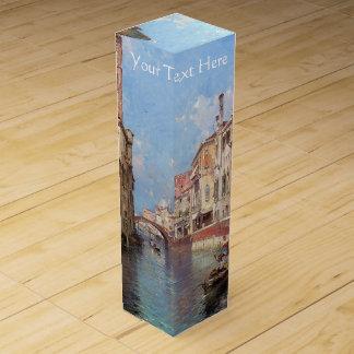Boite Pour Bouteille De Vin Boîte-cadeau faite sur commande de vin de Venise