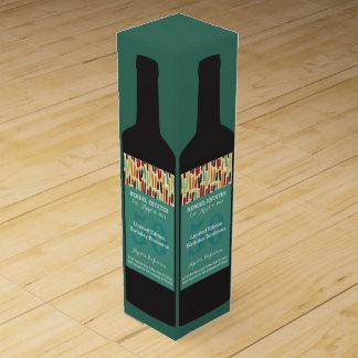 Boite Pour Bouteille De Vin Boîte-cadeau personnalisée de vin d'anniversaire