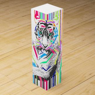 Boite Pour Bouteille De Vin le néon vibrant coloré à la mode barre la peinture