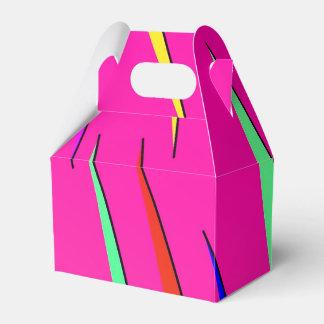 Boîte rayée au néon boite de faveur