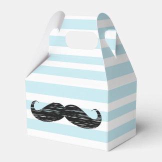 Boîte rayée bleue et blanche à festin de sucrerie ballotins