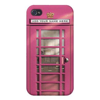 Boîte rose Girly drôle de téléphone des Anglais pe Étui iPhone 4/4S