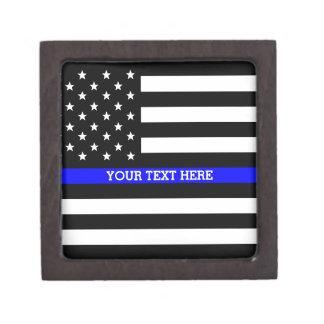 Boîtes À Babioles De Première Qualité Blue Line mince - coutume personnalisée de drapeau