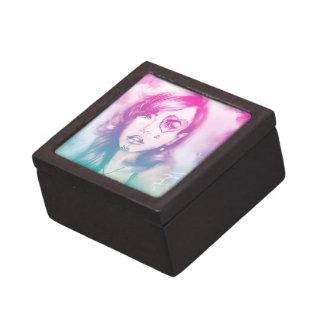Boîtes À Babioles De Première Qualité Boîte-cadeau rose et bleue colorée de dame -