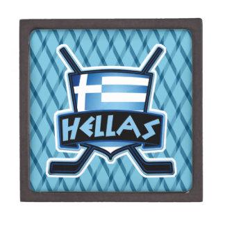 Boîtes À Babioles De Première Qualité Boîte de logo de drapeau de hockey sur glace de la