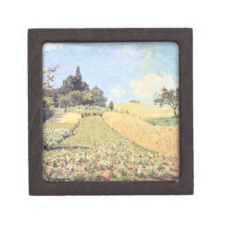 Boîtes À Babioles De Première Qualité Champ de blé d'Alfred Sisley |