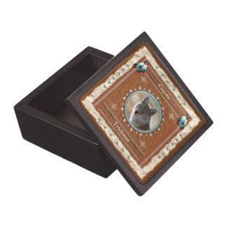 Boîtes À Babioles De Première Qualité Coyote - boîte-cadeau en bois de Filou