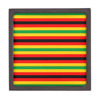 Boîtes À Babioles De Première Qualité Le drapeau du Zimbabwe barre des lignes couleurs