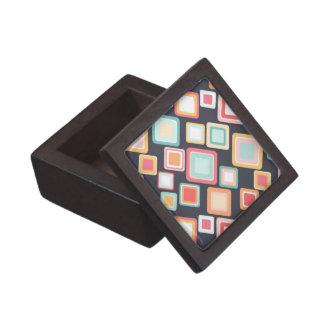 Boîtes À Babioles De Première Qualité Rétros carrés de motif