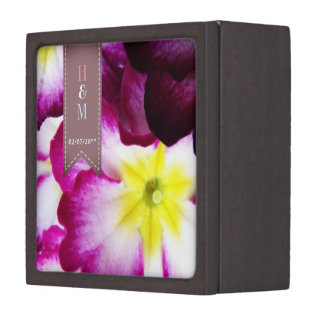 Boîtes À Bijoux De Première Qualité Boîte colorée d'anneau de mariage de fleurs