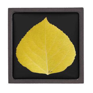 Boîtes À Bijoux De Première Qualité Feuille jaune #5 d'Aspen