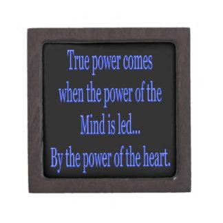 Boîtes À Bijoux De Première Qualité La puissance vraie vient quand….