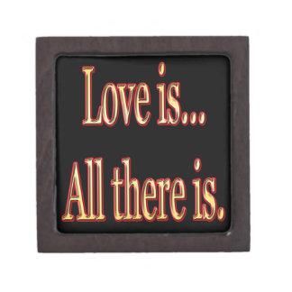 Boîtes À Bijoux De Première Qualité L'amour est tout là est