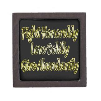 Boîtes À Bijoux De Première Qualité Le combat honorablement, aiment hardiment, donnent