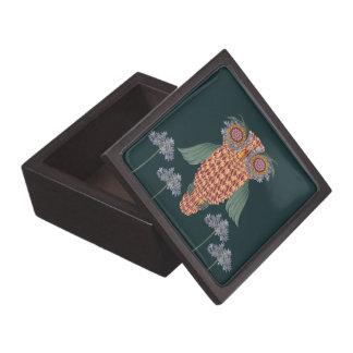 Boîtes À Bijoux De Première Qualité Le hibou de la sagesse et des fleurs