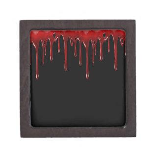 Boîtes À Bijoux De Première Qualité Le sang de Falln s'égoutte le noir