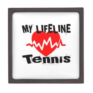 Boîtes À Bijoux De Première Qualité Ma ligne de vie tennis folâtre des conceptions