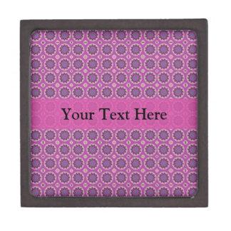 Boîtes À Bijoux De Première Qualité Motif floral assez rose