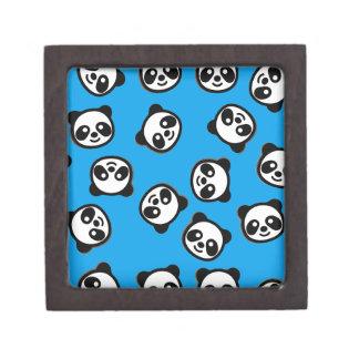 Boîtes À Bijoux De Première Qualité Motif noir et blanc de bande dessinée de panda