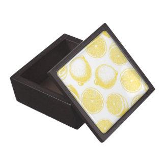Boîtes À Bijoux De Première Qualité Motif tiré par la main de citron