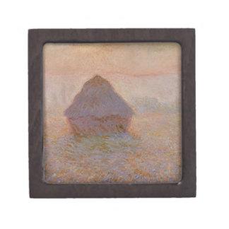 Boîtes À Souvenirs De Première Qualité Claude Monet | Grainstack, Sun dans la brume