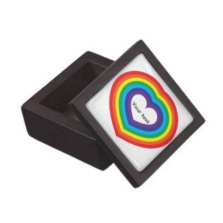 Boîtes À Souvenirs De Première Qualité Coeur d'arc-en-ciel