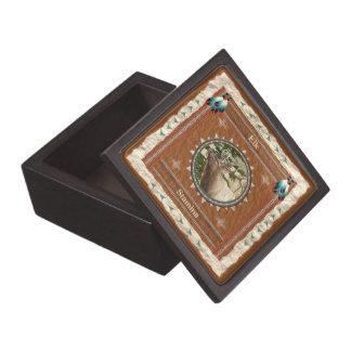 Boîtes À Souvenirs De Première Qualité Élans - boîte-cadeau en bois de vigueur