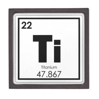 Boîtes À Souvenirs De Première Qualité Formule titanique de chimie de symbole d'élément