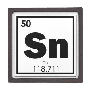 Boîtes À Souvenirs De Première Qualité Geek de formule de chimie de symbole d'élément