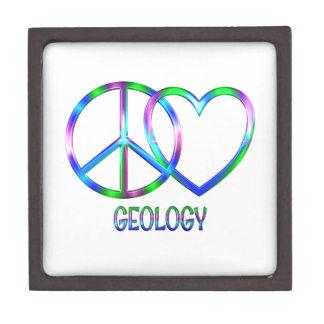 Boîtes À Souvenirs De Première Qualité Géologie brillante d'amour de paix