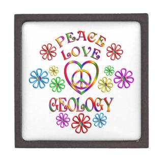 Boîtes À Souvenirs De Première Qualité Géologie d'amour de paix