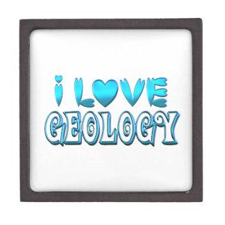 Boîtes À Souvenirs De Première Qualité J'aime la géologie