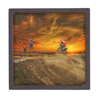Boîtes À Souvenirs De Première Qualité Motocross au crépuscule