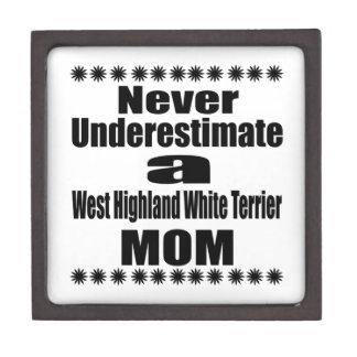 Boîtes À Souvenirs De Première Qualité Ne sous-estimez jamais la montagne Terrier blanc
