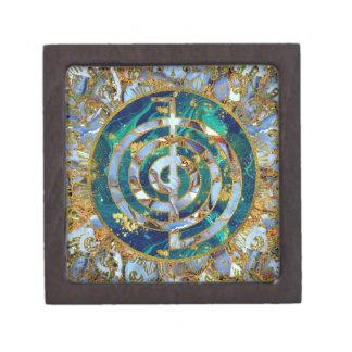 Boîtes À Souvenirs De Première Qualité Symbole de Choku Rei dans le mandala sur le marbre