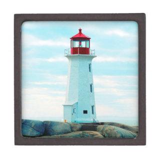 Boîtes À Souvenirs De Première Qualité Vieux phare, océan bleu, maritime, nautique