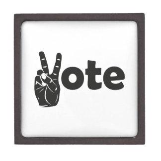 Boîtes À Souvenirs De Première Qualité Vote d'illustration pour la paix