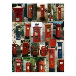 Boîtes aux lettres britanniques cartes postales