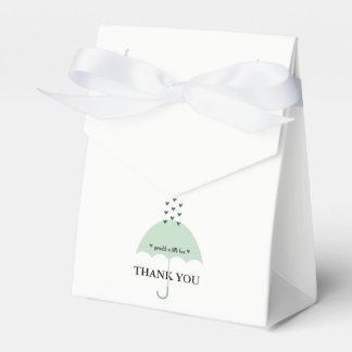 Boîtes de cadeau de douche de vert de BÉBÉ et de Boites De Faveur