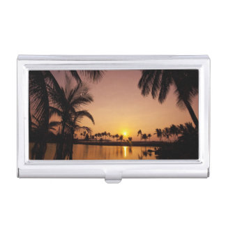 Boîtier Pour Cartes De Visite Arrangement de Sun sur la baie d'Anaeho'omalu,