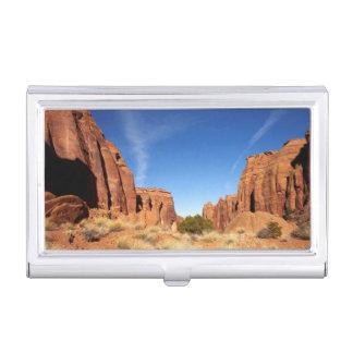 Boîtier Pour Cartes De Visite Canyon rouge de roche