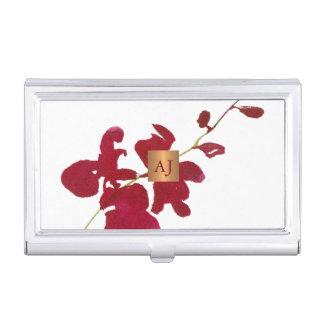 Boîtier Pour Cartes De Visite Carré fascinant d'en cuivre d'aquarelle florale