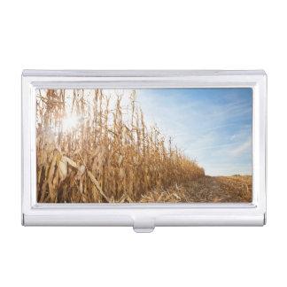 Boîtier Pour Cartes De Visite Champ de maïs en partie moissonné