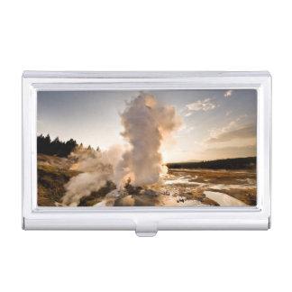 Boîtier Pour Cartes De Visite Geyser de rebord, bassin de geyser de Norris