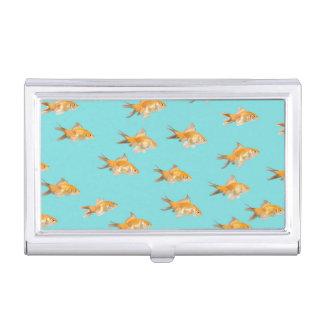 Boîtier Pour Cartes De Visite Grand groupe du poisson rouge faisant face à un
