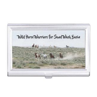 Boîtier Pour Cartes De Visite Guerriers de cheval sauvage pour le lavabo de