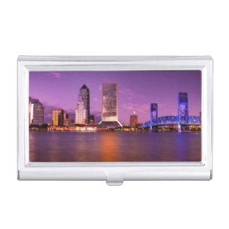 Boîtier Pour Cartes De Visite Horizon de Jacksonville la Floride la nuit