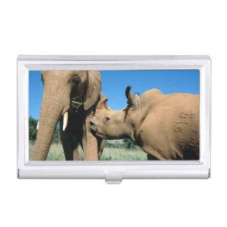 Boîtier Pour Cartes De Visite Jeune rhinocéros blanc